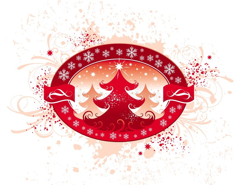 Download Christmas emblem stock vector. Image of abstract, celebration - 3122927