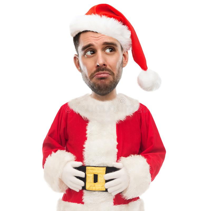 Download Sad Unhappy Man In Santa Claus Costume Stock Photo - Image of character people  sc 1 st  Dreamstime.com & Sad Unhappy Man In Santa Claus Costume Stock Photo - Image of ...