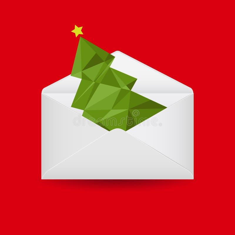 Christmas envelope stock illustration