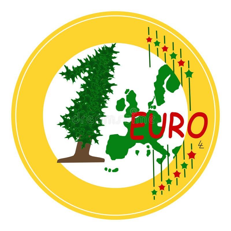 Christmas Euro royalty free stock photography