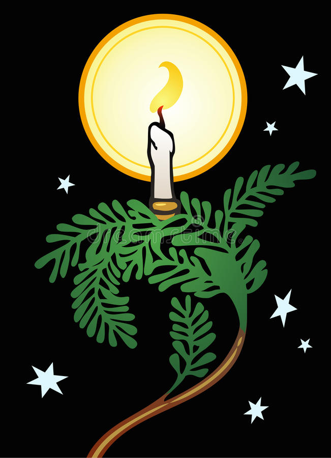 Download Christmas Eve Candle stock vector. Illustration of religion - 22010812