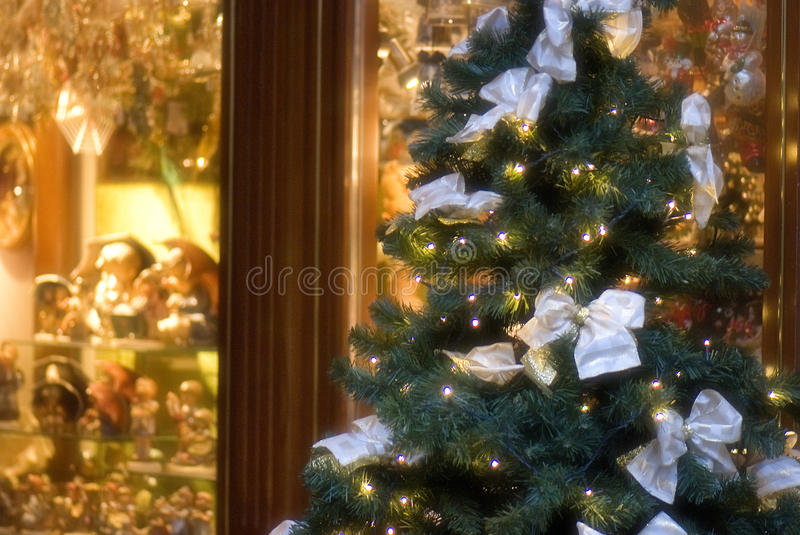 Christmas Eve shopping royalty free stock photography