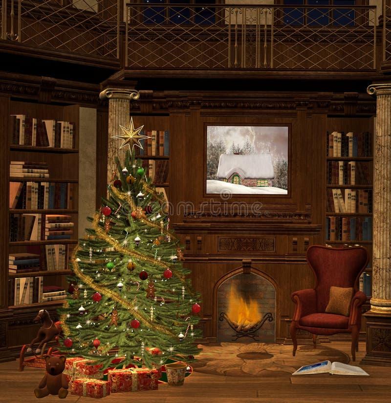 Download Christmas evening stock illustration. Image of columns - 34101735