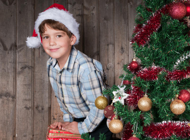 Download Christmas expectation stock photo. Image of garland, children - 22002708