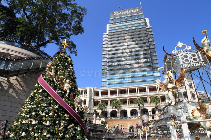 Christmas fair at Hong Kong former Marine Police Headquarters royalty free stock image
