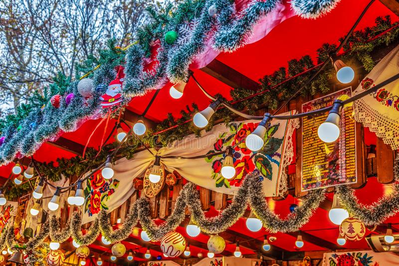 Christmas fair from Timisoara, Romania. Aspects from the street Christmas fair from Timisoara, Romania, with traditional products, decoration and specific stock photos