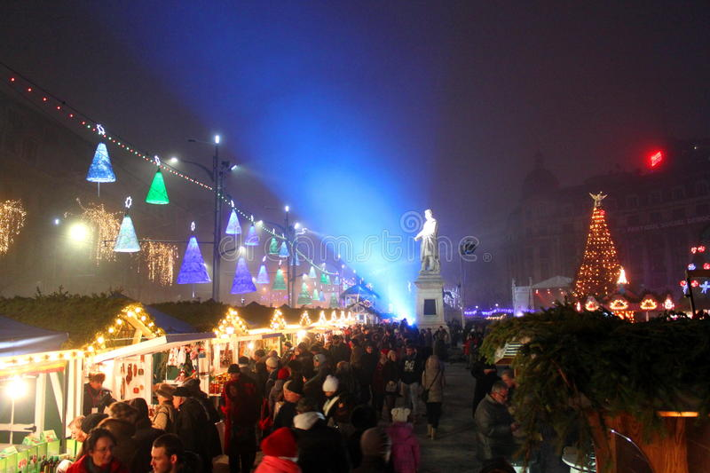 Christmas fair royalty free stock image