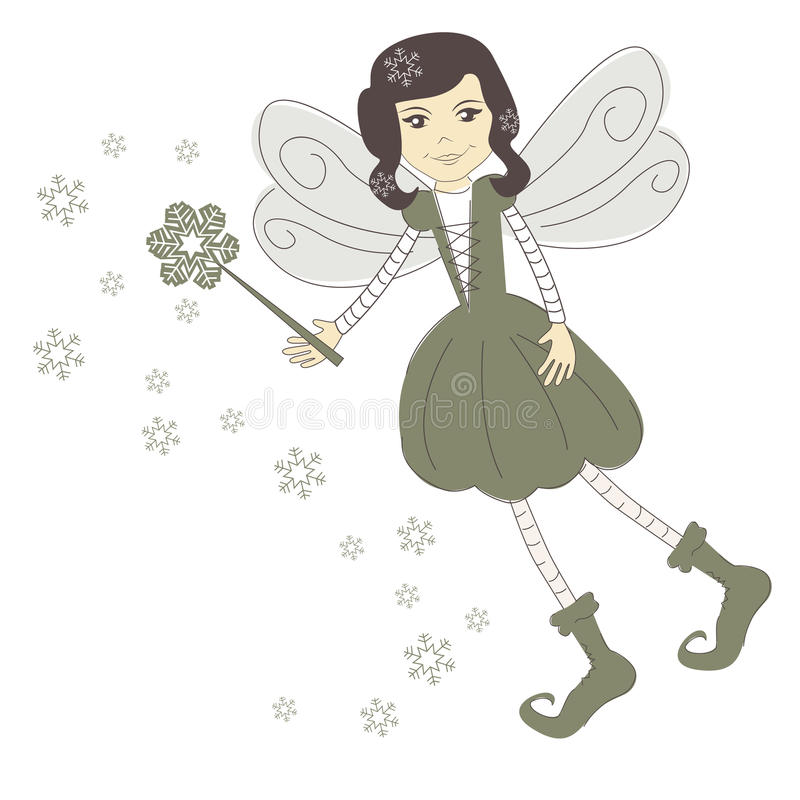 Christmas fairy royalty free illustration