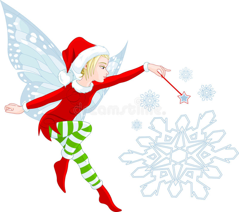 Christmas Fairy. Granting wishes and helping your dreams come true royalty free illustration
