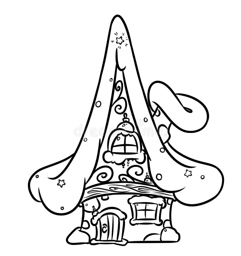 Download Christmas Fairy House Stock Illustration