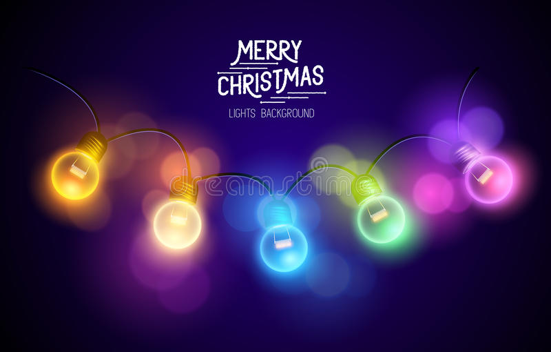 Christmas Fairy Lights royalty free illustration
