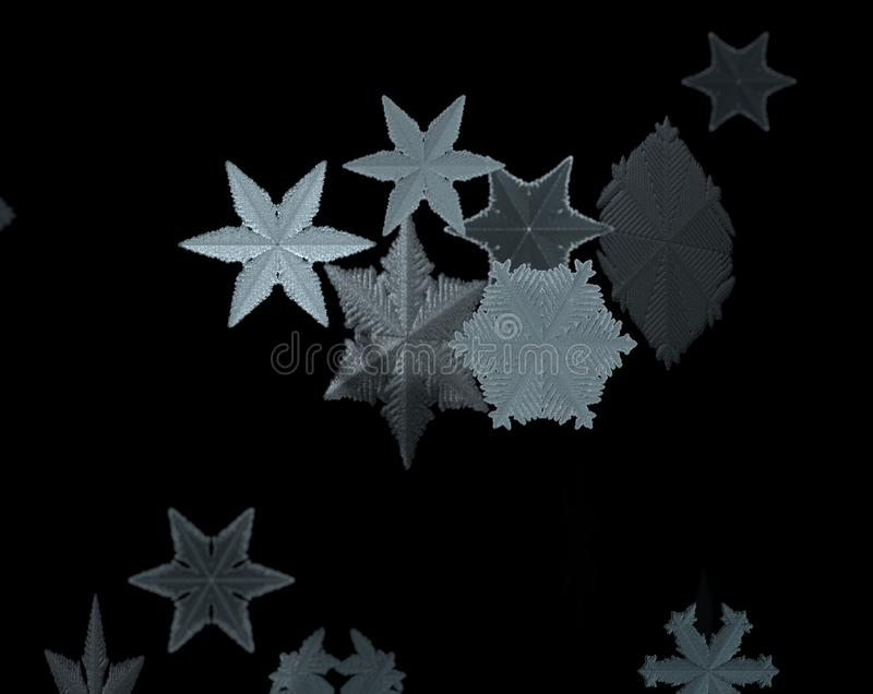 Christmas falling snow isolated background. Xmas snow flake pattern. Snowfall texture. Winter snowstorm backdrop 3d royalty free illustration