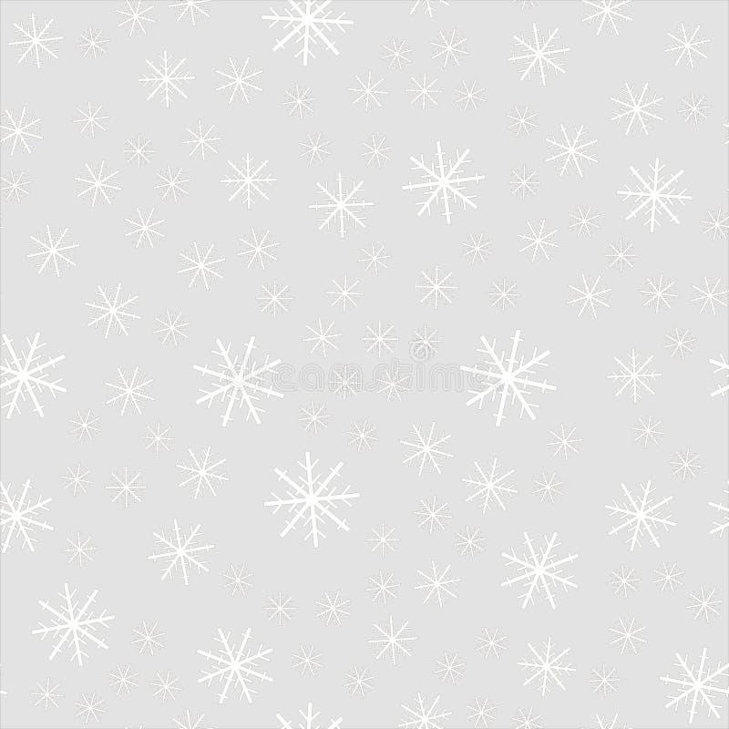 Christmas falling snow isolated on dark background. Snowflake transparent decoration effect. Xmas snow flake pattern. Magic royalty free illustration