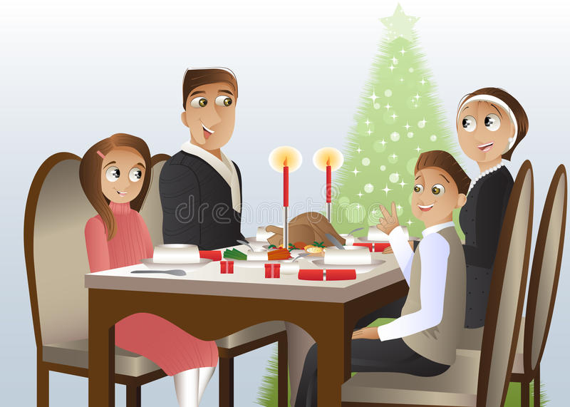 Download Christmas a family holiday stock vector. Image of party - 22159887