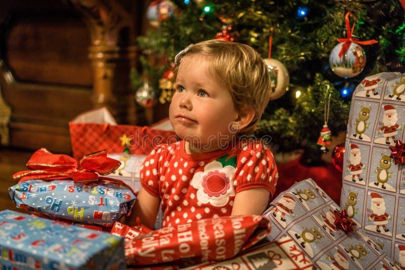 Christmas, Family, Holidays, Present royalty free stock image