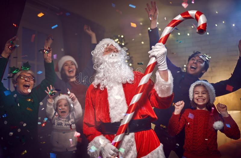 Christmas family party royalty free stock images