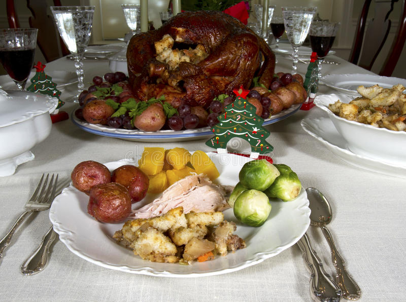 Christmas Feast royalty free stock image