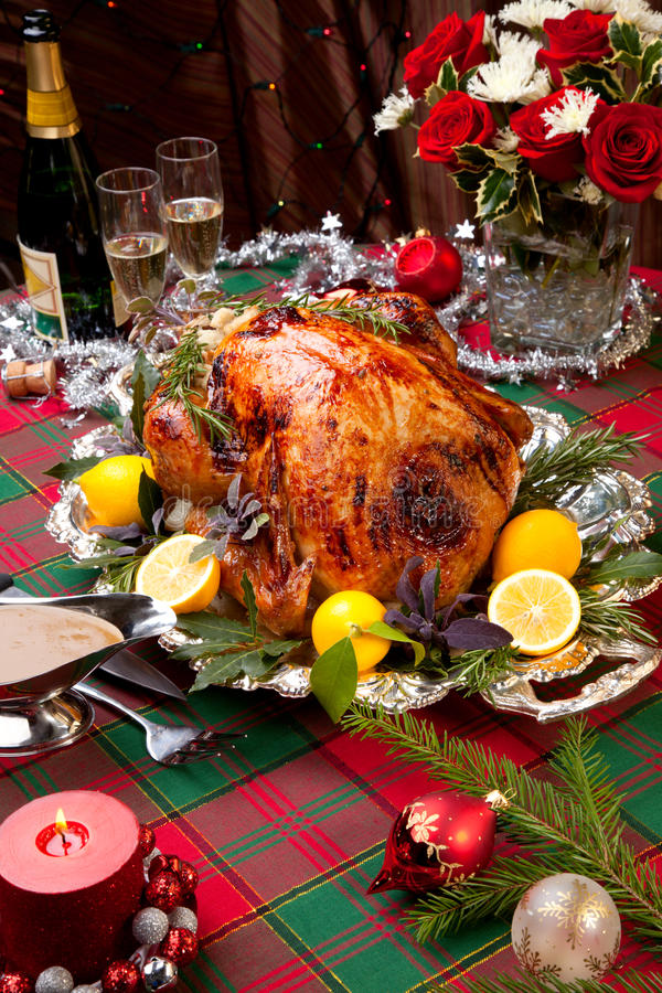 Christmas Feast Turkey royalty free stock image