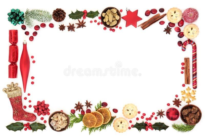 Christmas Festive Background Border royalty free stock image