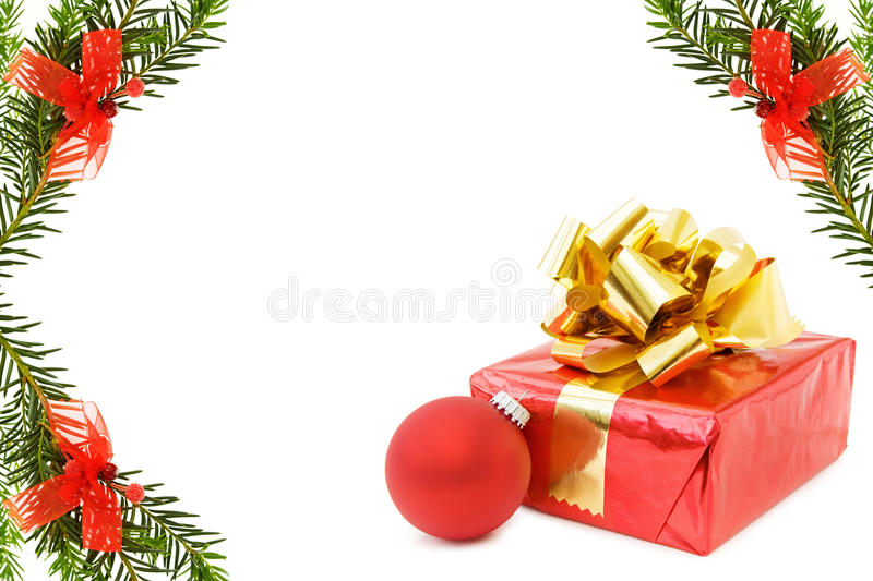 Download Christmas Festive Border With Gifts Stock Image - Image: 11706469