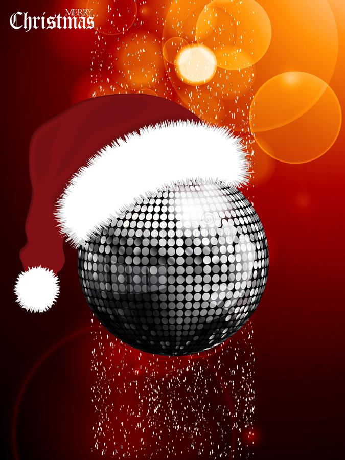 Free Christmas Festive Glowing Background With Disco Ball And Santa H Royalty Free Stock Photo - 102024145