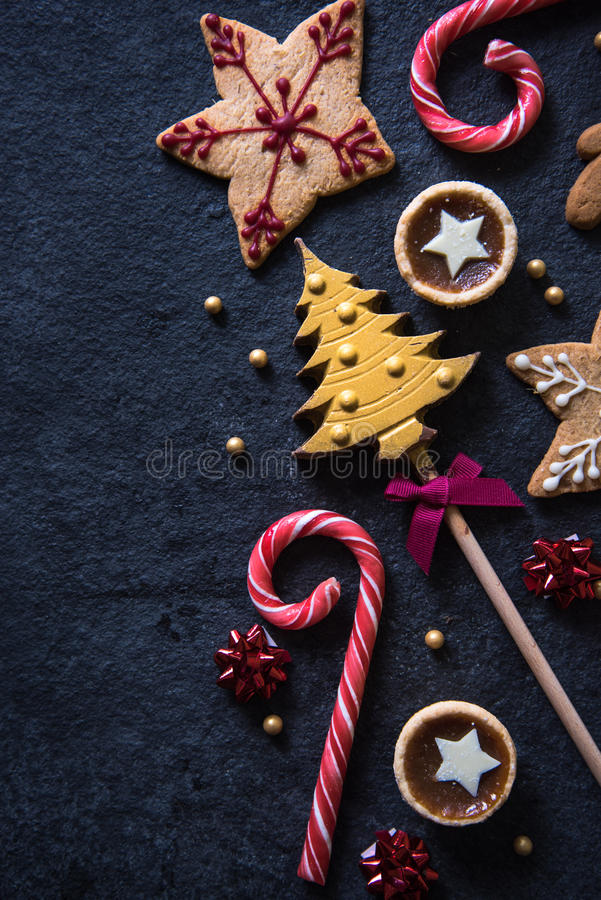 Christmas festive sweets food background royalty free stock photos