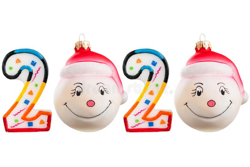 Christmas figures 2020 royalty free stock images