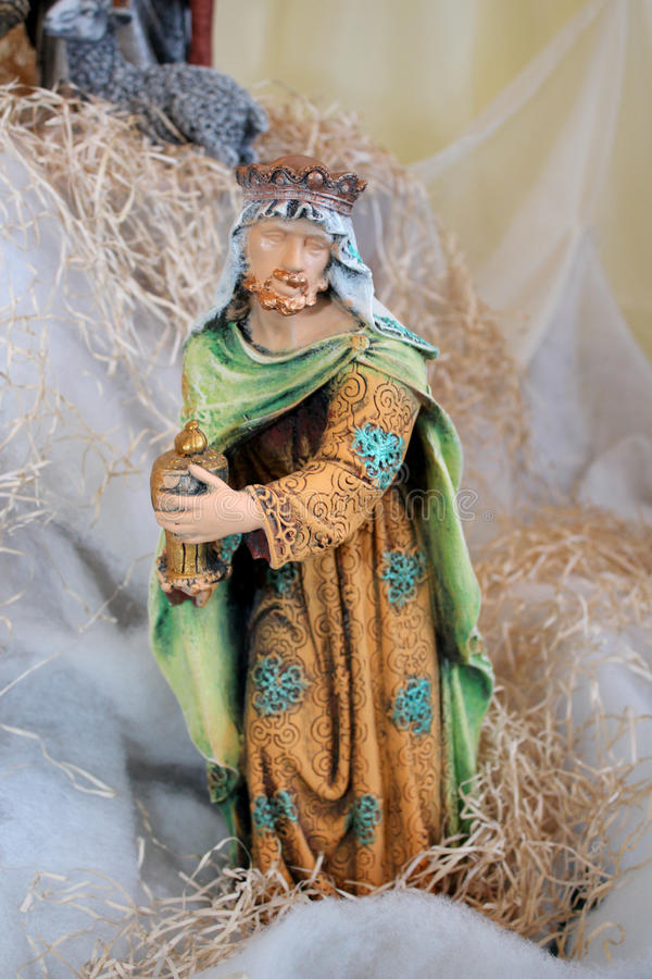 Christmas Figurine King Royalty Free Stock Images
