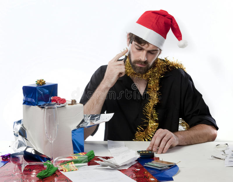 Christmas Finances stock photos
