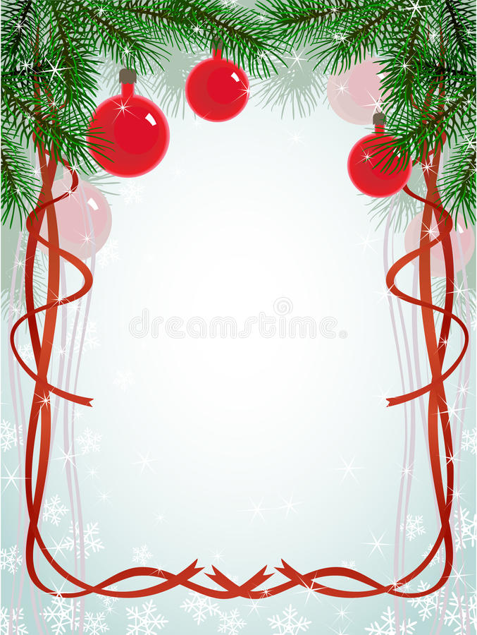 Christmas fir branches ribbons pattern royalty free illustration