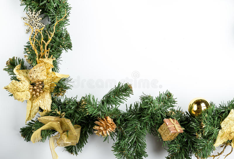 Christmas fir tree branch royalty free stock photography