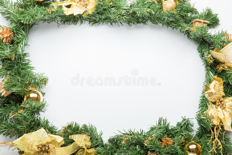 Christmas fir tree branch stock photo
