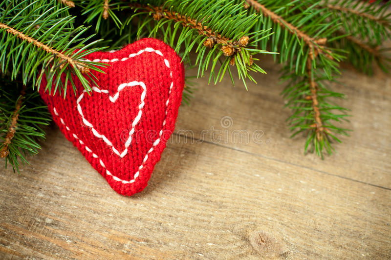 Download Christmas Fir Tree With Handmade Decoration Stock Photo - Image: 27578856
