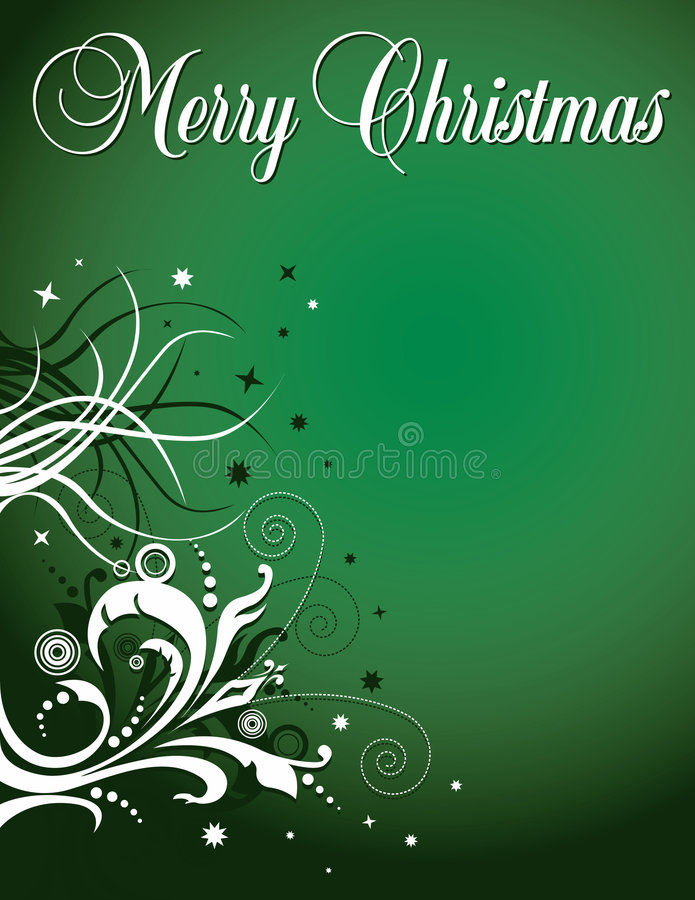 Christmas floral background royalty free illustration