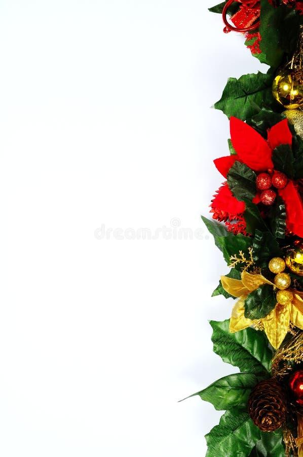Christmas floral edge. royalty free stock photo
