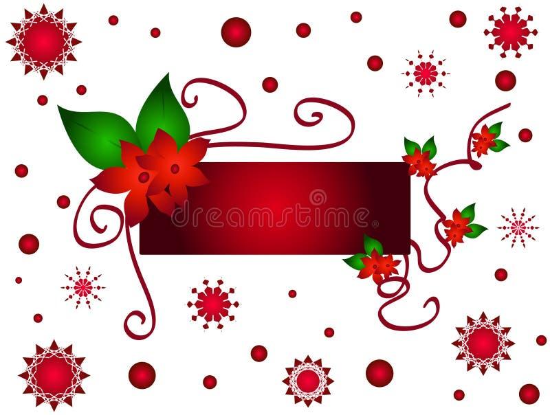 Christmas flower frame stock illustration