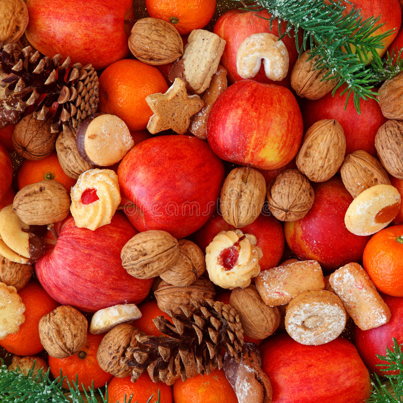 Christmas food. Background close up royalty free stock photography