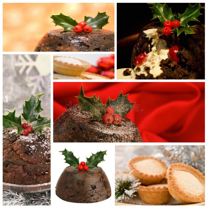 Christmas Food Montage stock photo