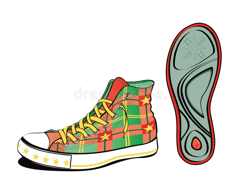 Christmas footwear vector illustration