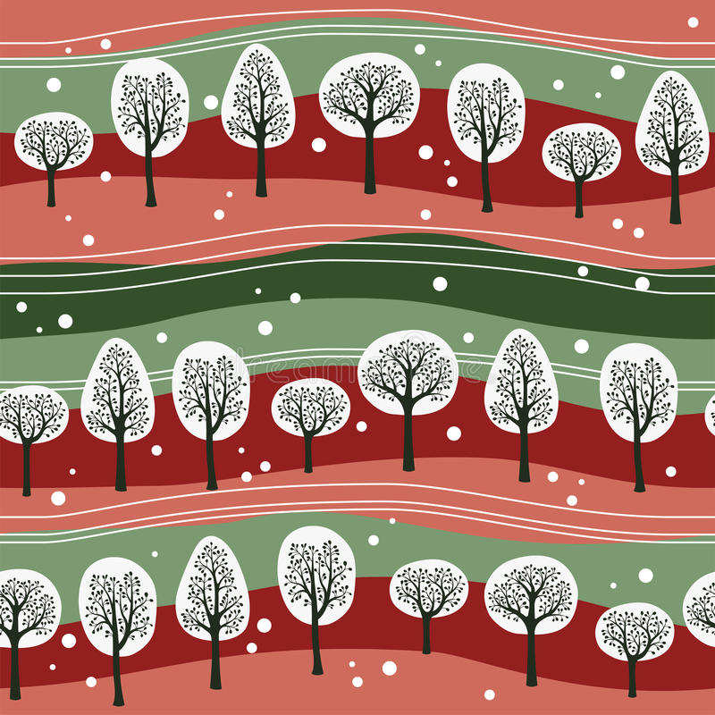 Christmas forest royalty free illustration