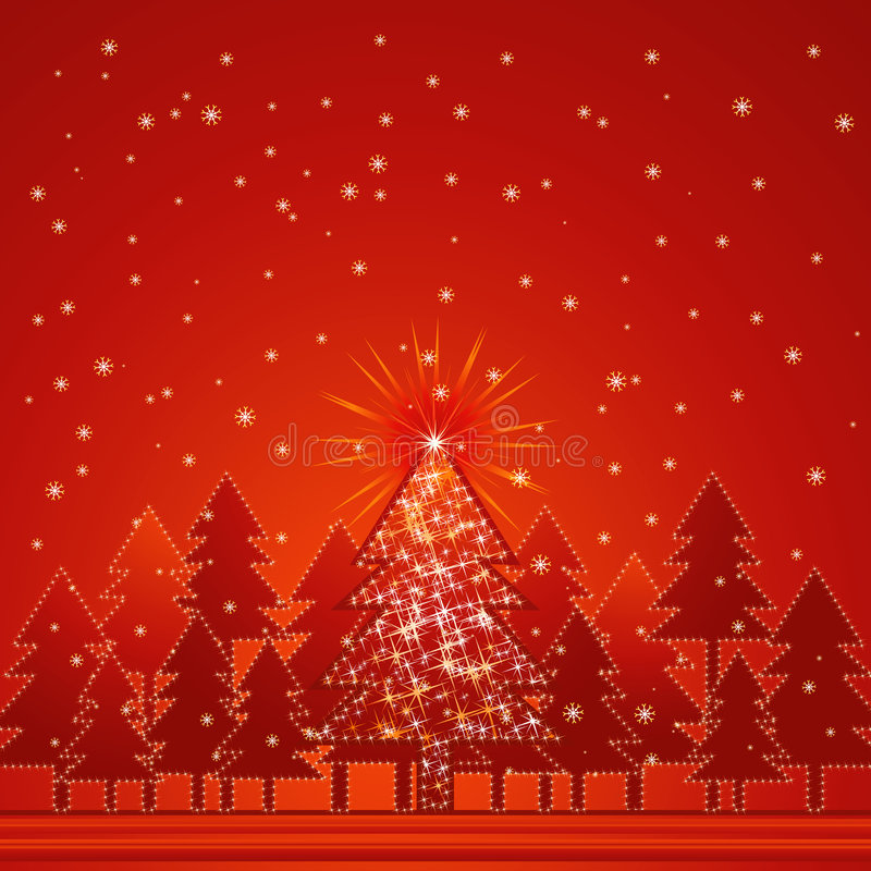 Download Christmas Forest, Vector Stock Image - Image: 3078131