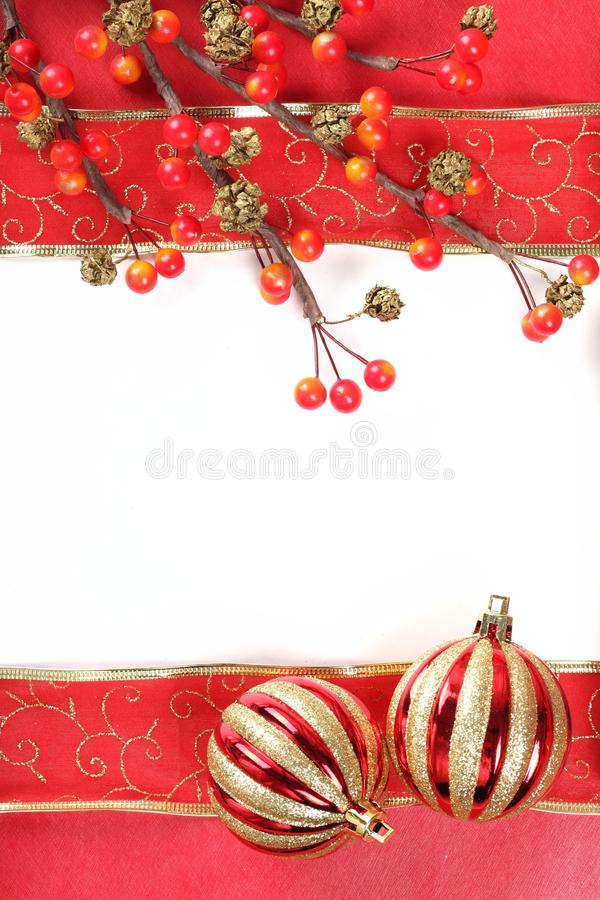 Christmas Frame. With copy space stock photo