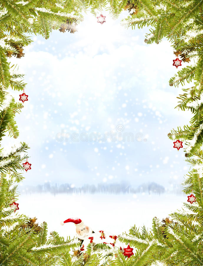 Free Christmas Frame Royalty Free Stock Images - 16972129