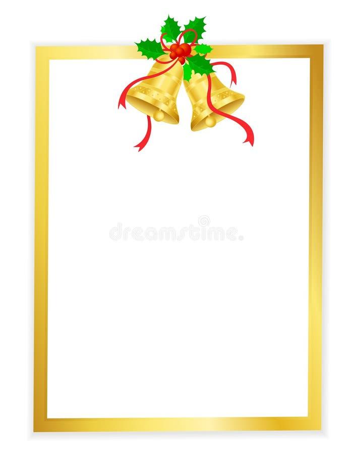 Download Christmas frame stock vector. Image of bells, golden - 21111634