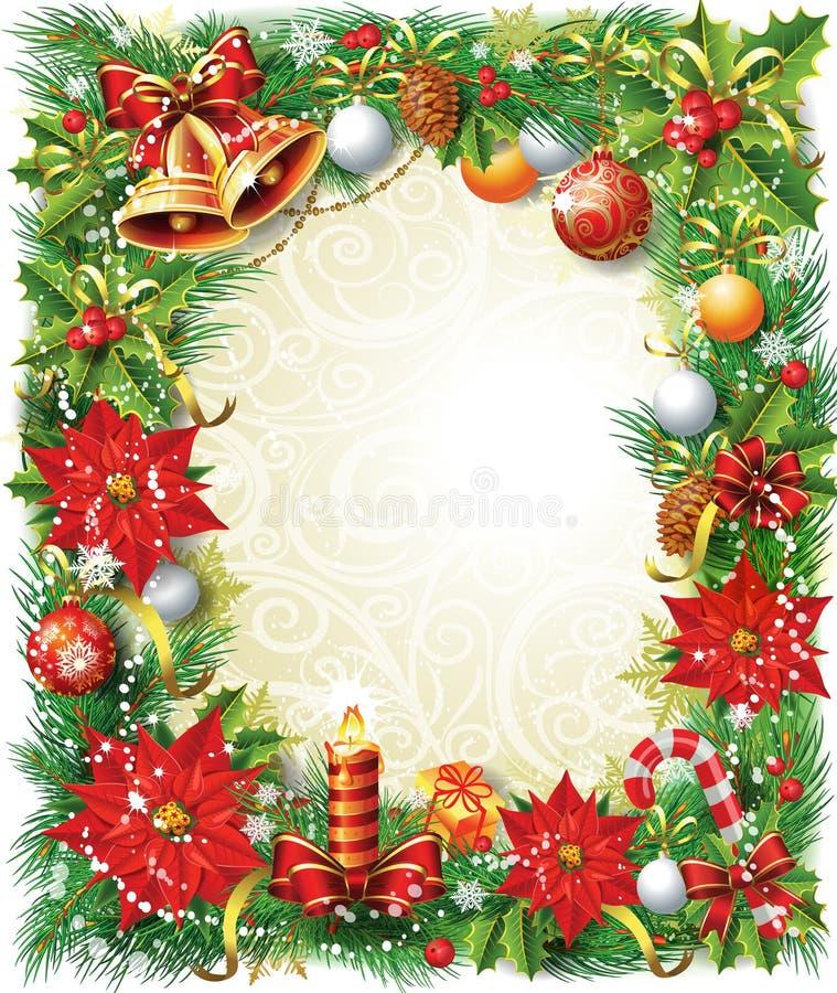 Christmas frame stock illustration