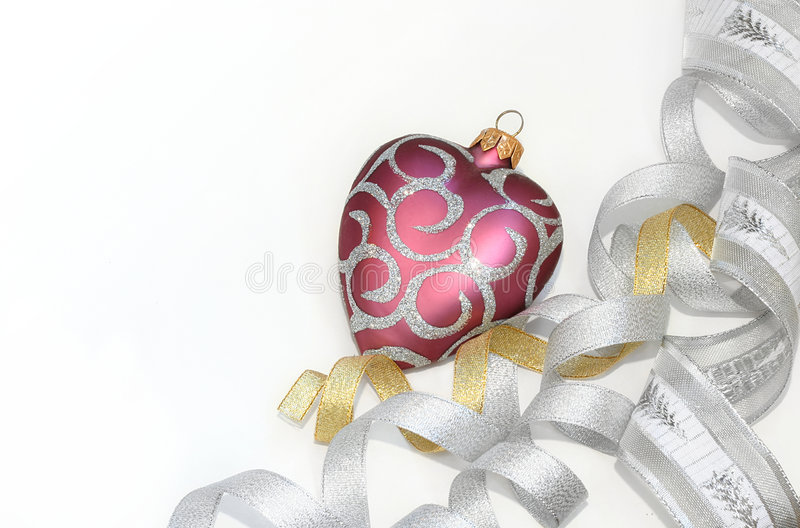 Christmas frame. Christmas ornament (isolated on white with copyspace royalty free stock images