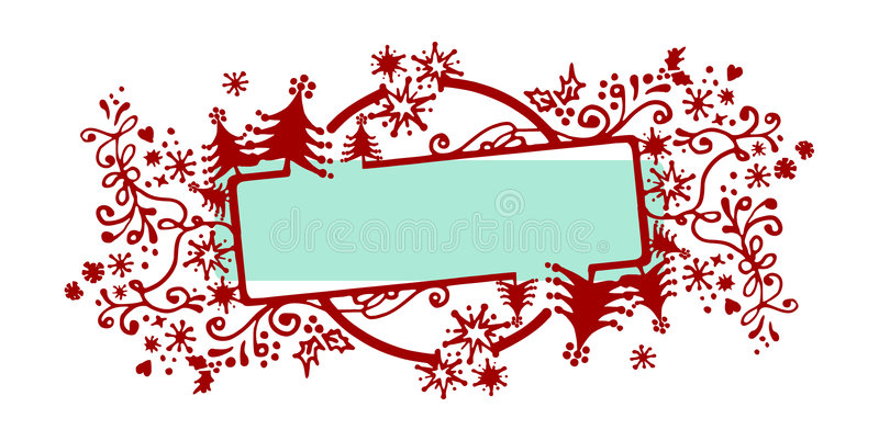 Download Christmas frame stock vector. Image of naive, frame, drawing - 6654276
