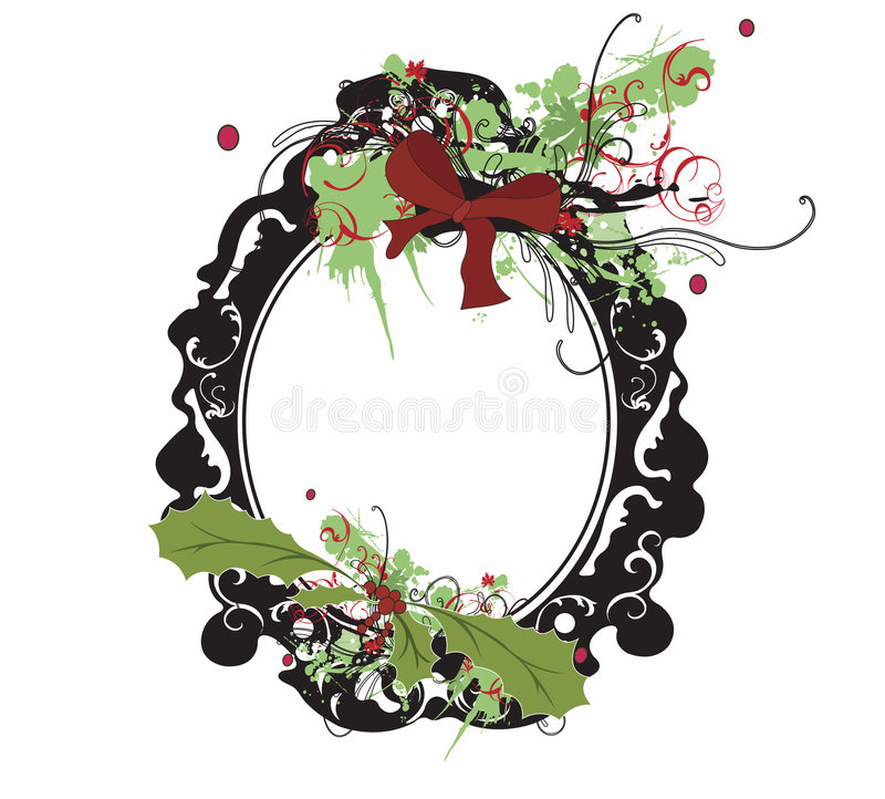 Download Christmas frame stock vector. Image of pattern, design - 7422225