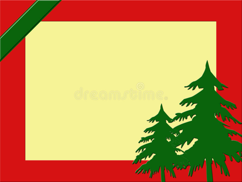 Download Christmas frame/background stock illustration. Image of green - 6400355