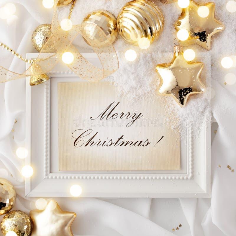 Christmas frame background stock photo